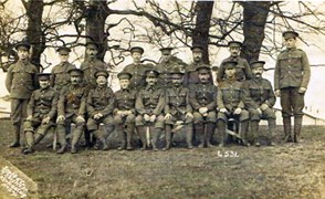 Peter Pieraccini - first from left standing. Bedfordshire Regiment