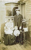Peter and Ethel with sons, PeterJnr and Victor.  Luton late 1909.