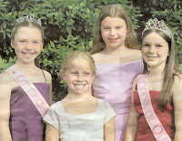 The carnival queen, princess and attendants