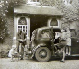 Patrick Graham outside the Vicarage with