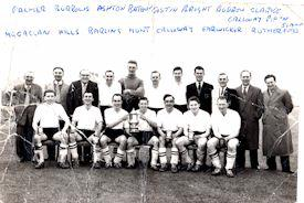 Eaton Bray Football Club, Beds Inter Final 1961-62 (provided by Dawn Clarke)<br />Back Row: Palmer, Burrows, Ashton, Bateman, Costin, Bright, Burrow, Clarke, Galloway, Pipkin, Simmons<br />Front Row: Macaclan, Hills, Barling, Munt, Galloway, Earwicker, Rutherford (click to view full photo)