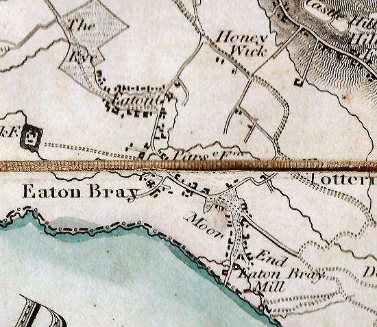 Map of Eaton Bray from 1826