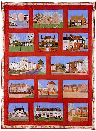 Mary Mayne - Eaton Bray Village Quilt - Eaton Bray : village quilt - Adamdwight.com
