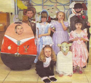 Colourful Nursery Rhyme Characters At Eaton Bray Lower School