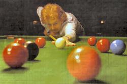 Potty about the game: Eaton Bray cueist Mary Hawkes wants more people to take up snooker