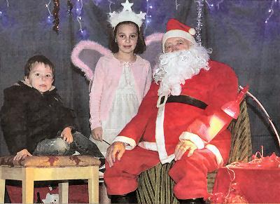 Santa at St Marys Christmas Fayre in Eaton Bray