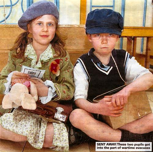 These two pupils got into the part of wartime evacuees