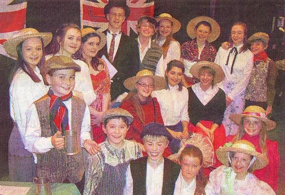 The cast of Eaton Bray's Good Old Days