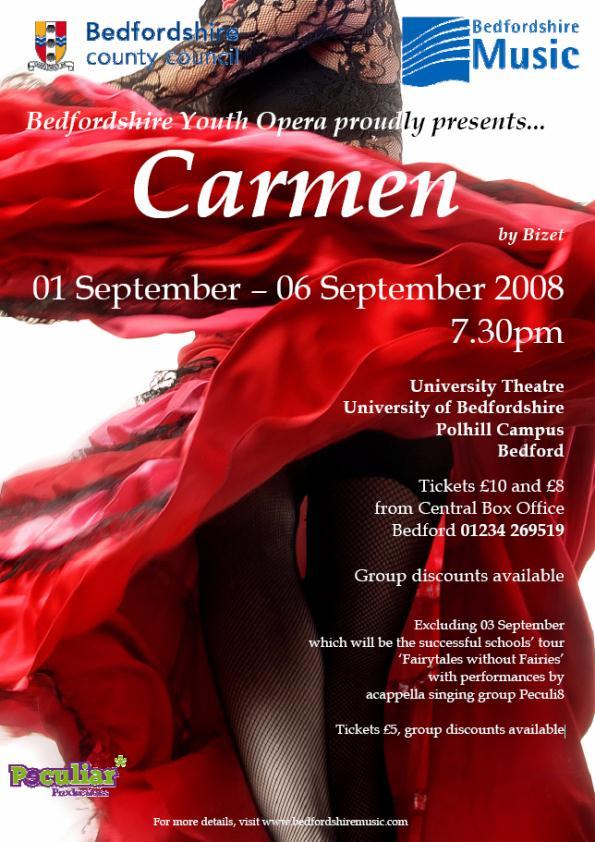 Bedfordshire Youth Opera - Carmen - 1st-6th September 2008