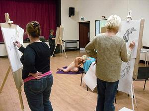 Life Drawing course, Eaton Bray village hall. © Christine Gallagher