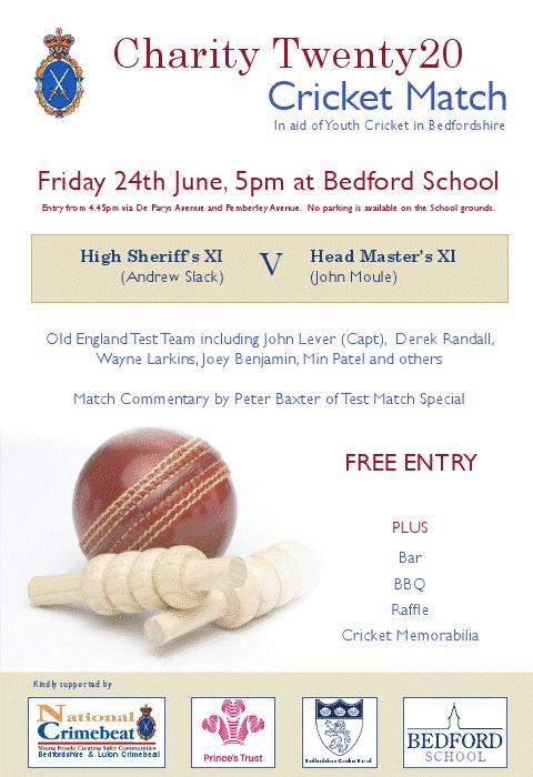 High Sheriff's Cricket Initiative - Twenty20 Charity Match 24 June