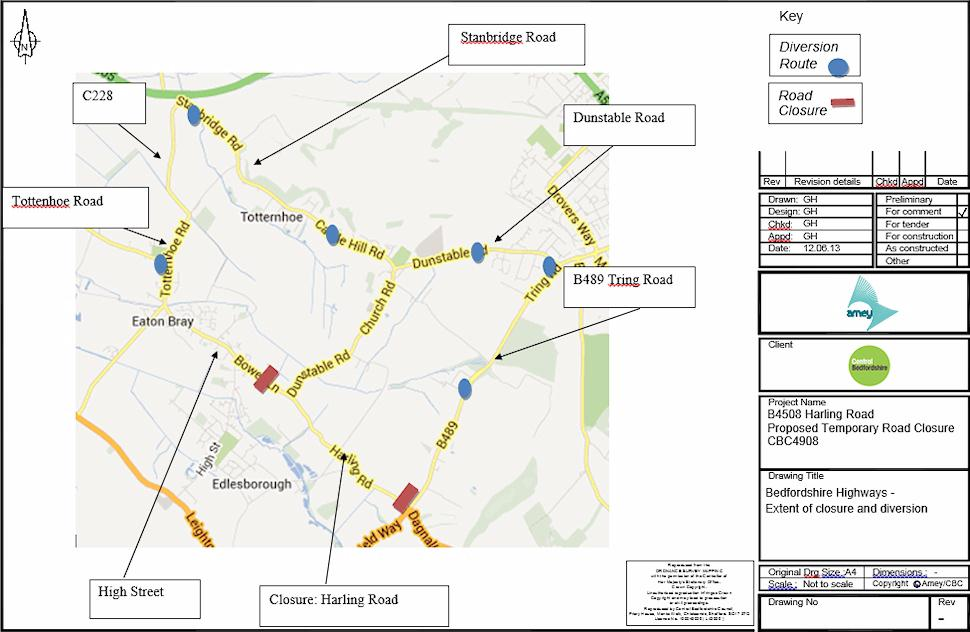 Harling Road Closure - 5-Aug-13 to 22-Sep-13