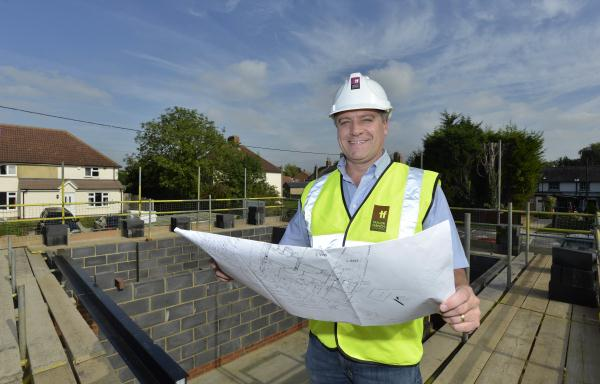 Castle Gate: Steve French looking at plans