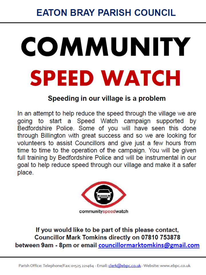 Eaton Bray Parish Council - Community Speed Watch