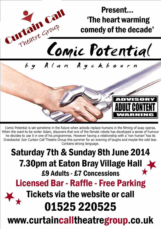 Curtain Call Theatre Group present 'Comic Potential' poster