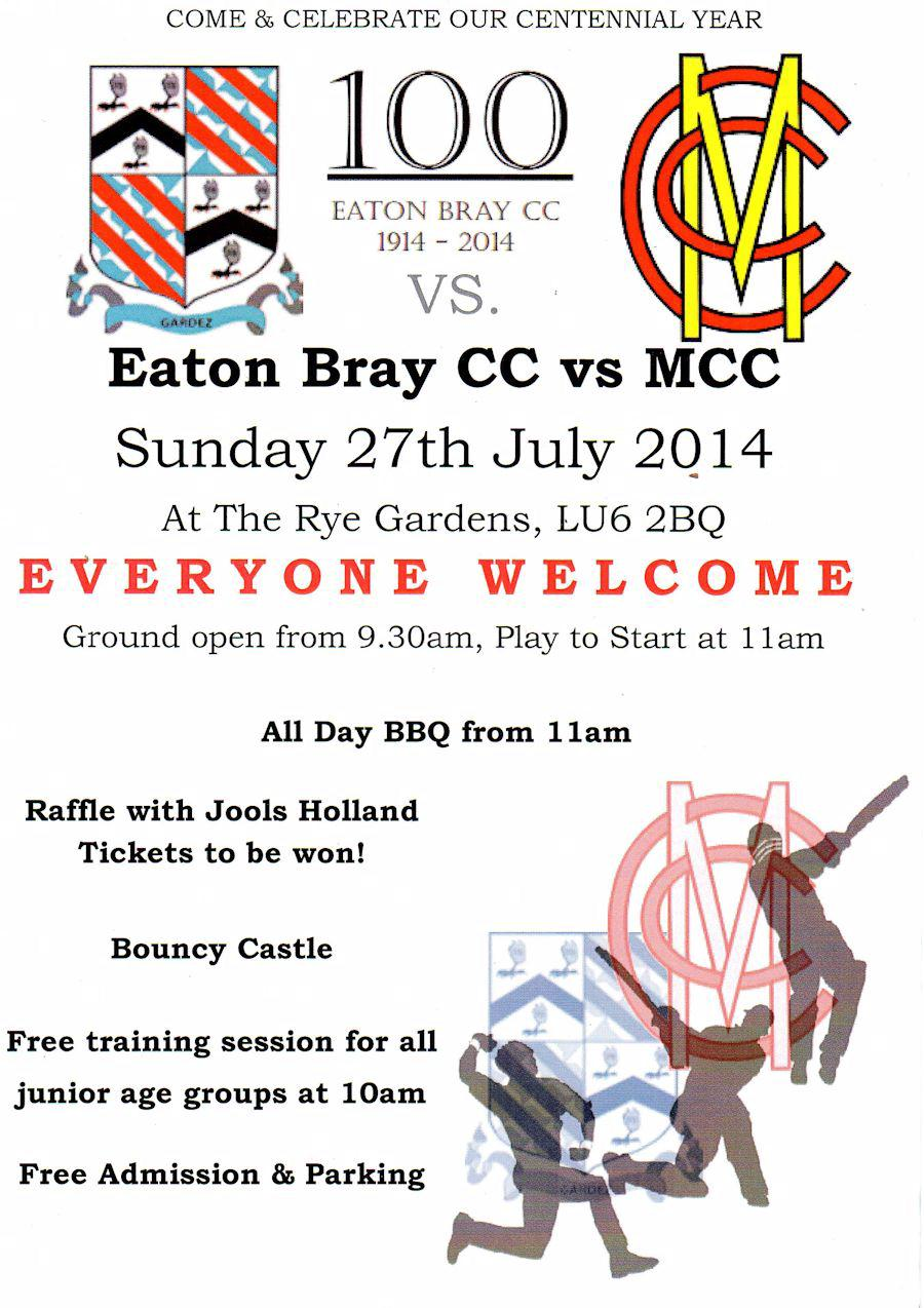 EBCC v MCC - Sunday 27th July
