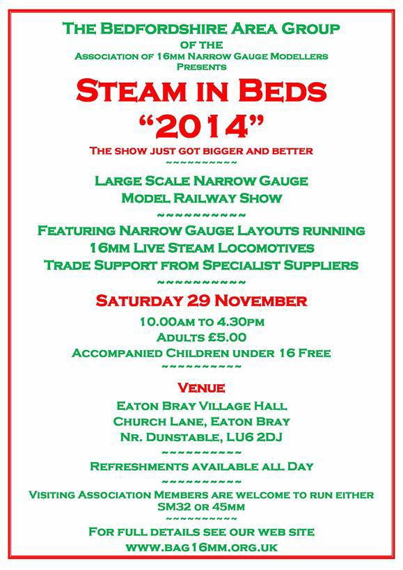 Steam in Beds 2014