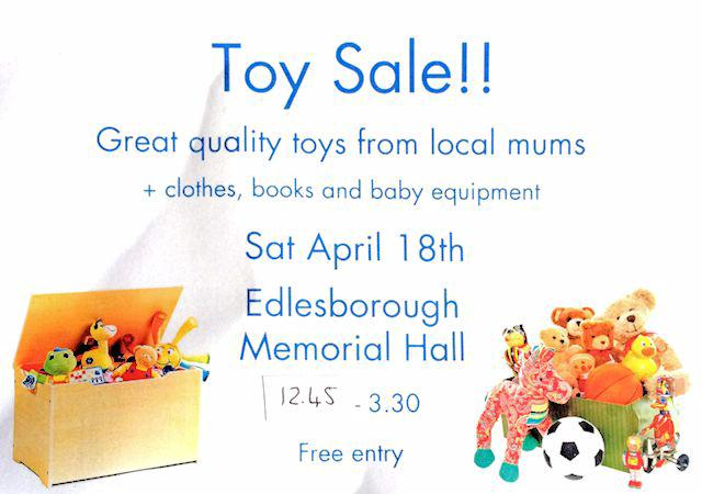 Toy Sale, Edlesborough Memorial Hall, 18 Apr 2015