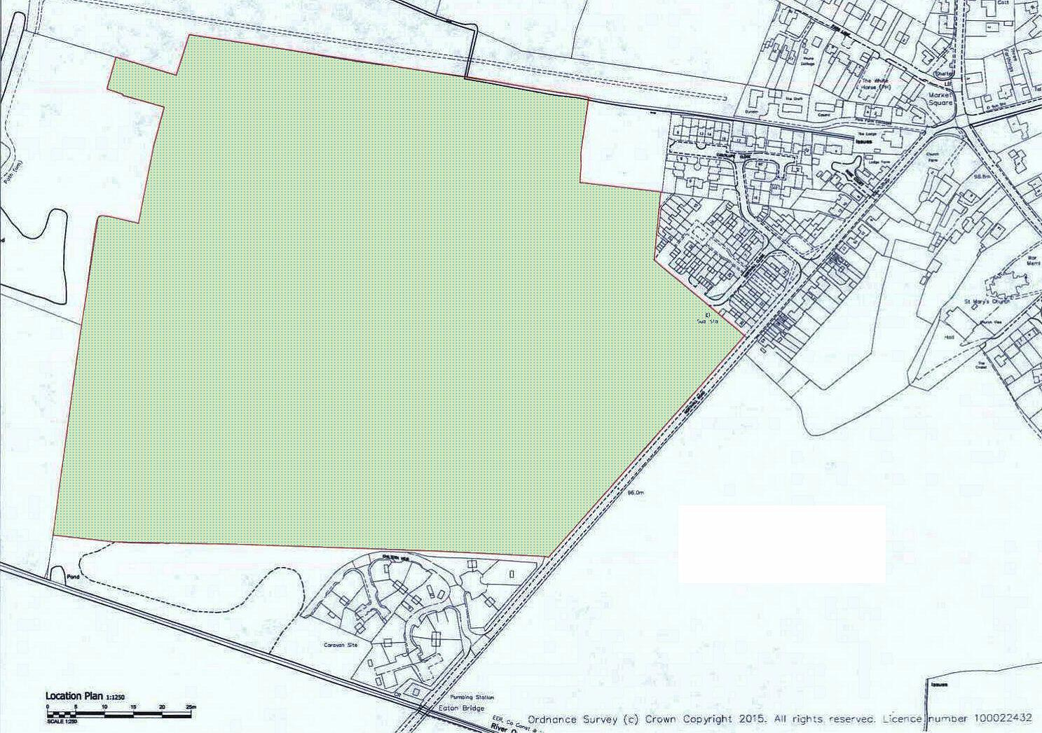 CB/15/02260/SCN: Plan for new development off Northall Road, Eaton Bray