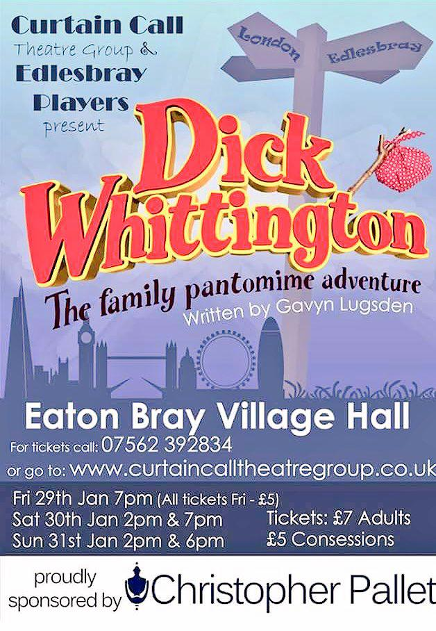 Curtain Call Theatre Group and Edlesbray Players present Dick Whittington 2016