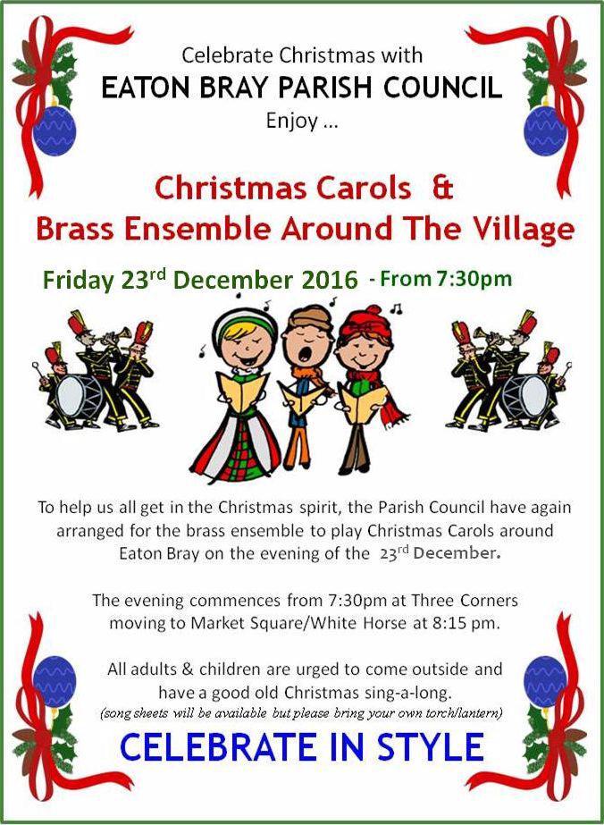 Christmas Carols & Brass Ensemble around Eaton Bray