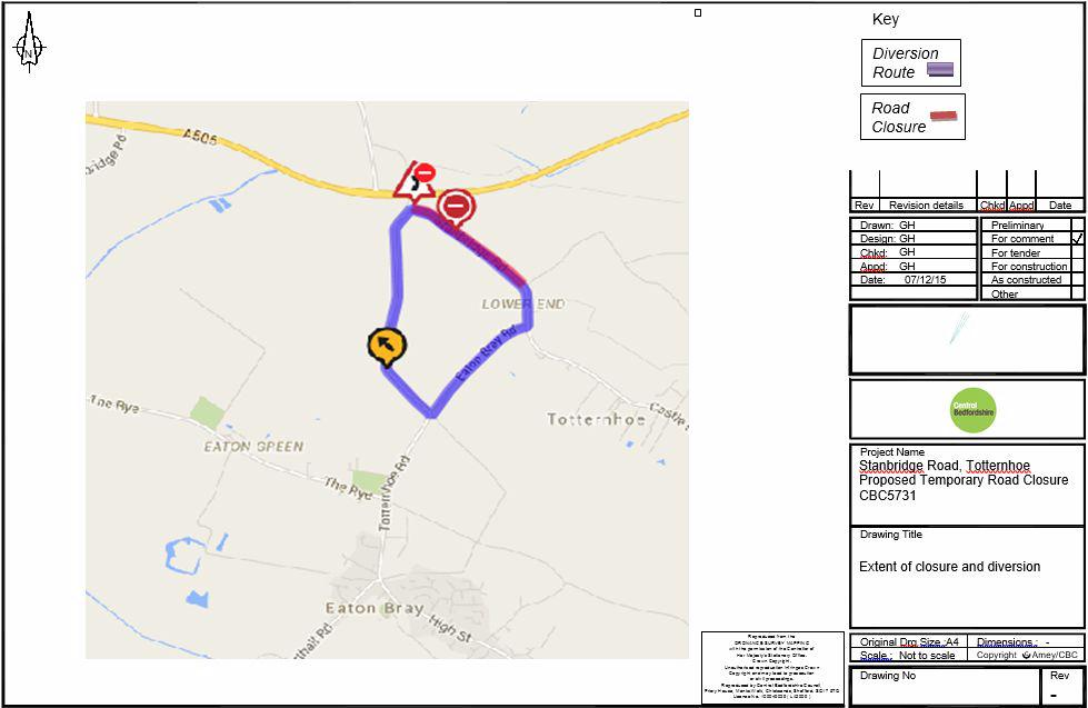 Road Closure - Stanbridge Road - 18 January 2016