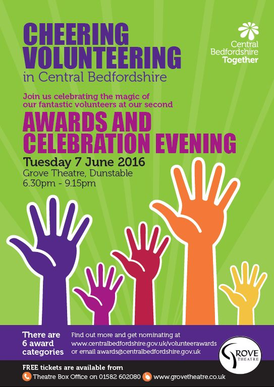 Cheering Volunteering in Central Bedfordshire Awards and Celebration Evening