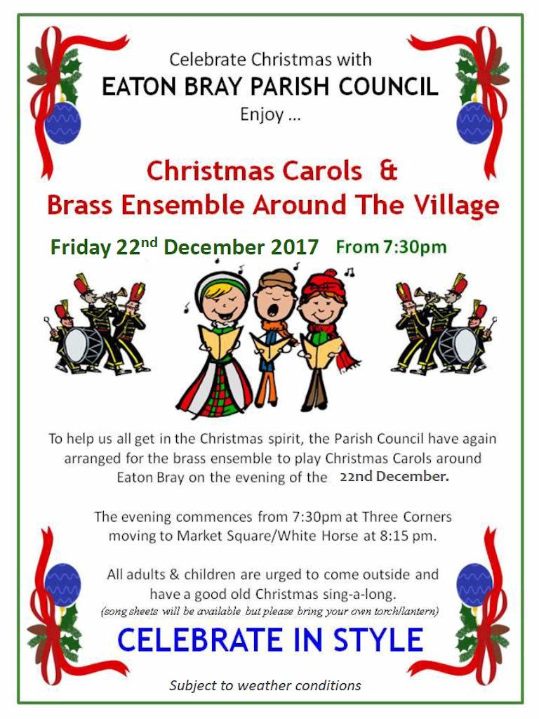 2017 Christmas Carols & Brass Ensemble Around Eaton Bray