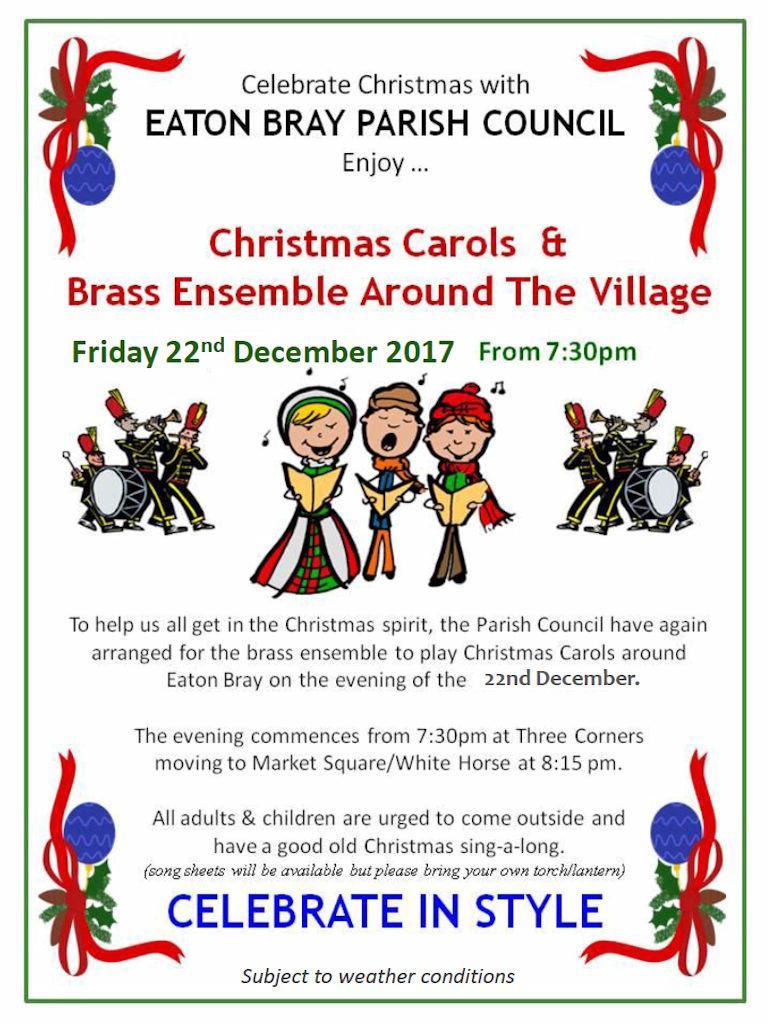 2017 Christmas Carols & Brass Ensemble Around Eaton Bray