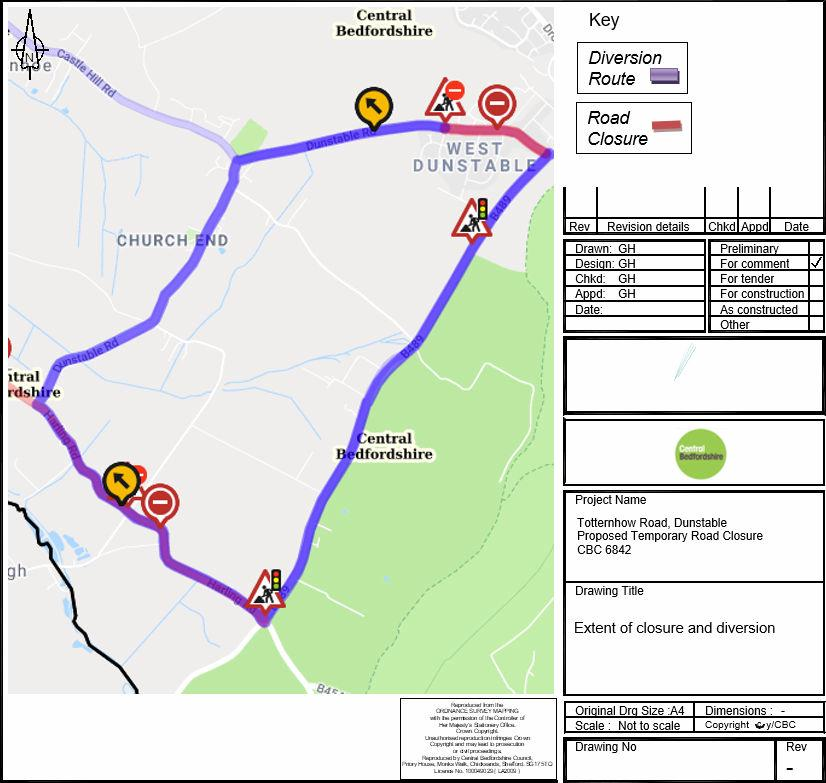 CBC 6842 - Diversion route during temporary road closure