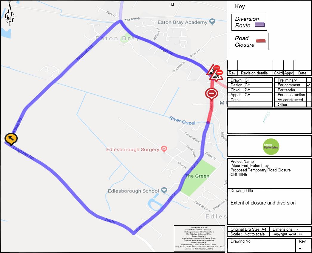 CBC 6845 - Diversion route during temporary road closure