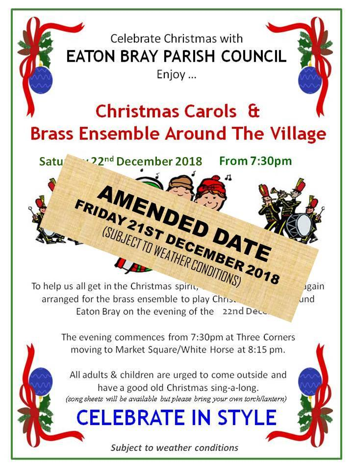 2018 Christmas Carols & Brass Ensemble Around Eaton Bray