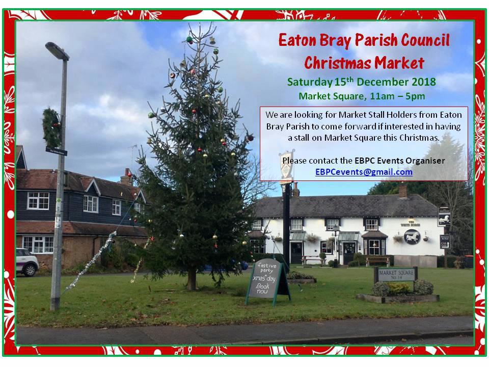 EBPC Christmas Market stall holders poster