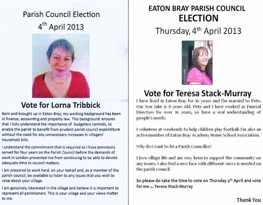 4th April 2013 election statements