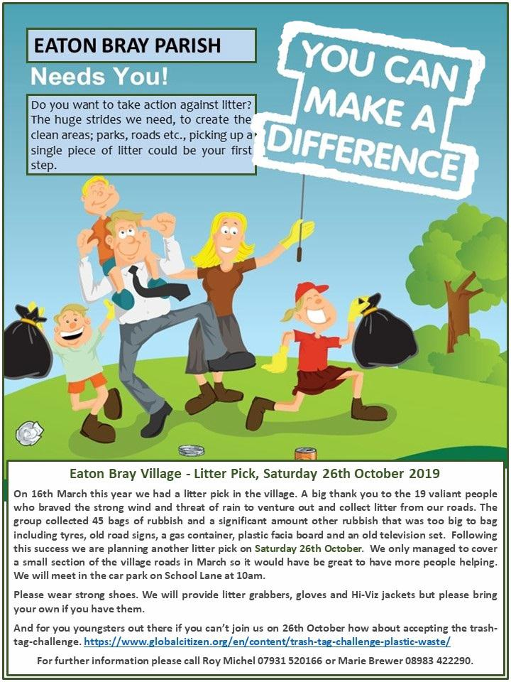 Litter Pick Day - Saturday 26th October 2019