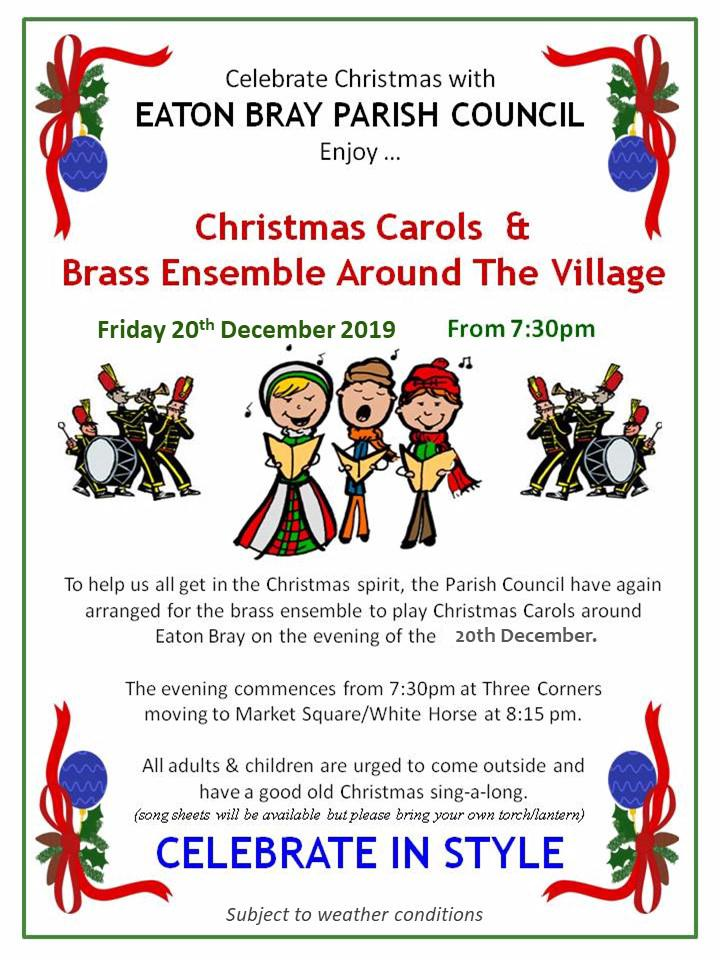 2019 Christmas Carols & Brass Ensemble Around Eaton Bray