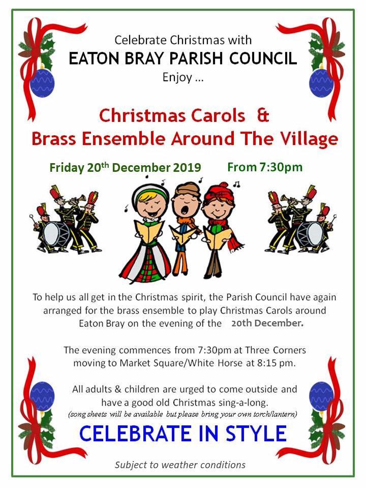 2019 Christmas Carols & Brass Ensemble Around Eaton Bray