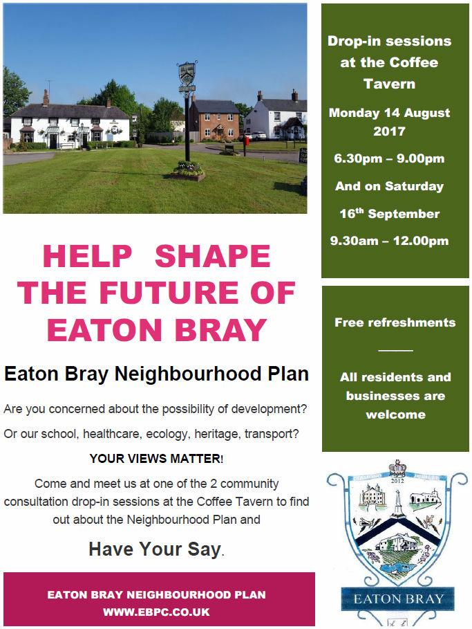Neighbourhood Plan Meetings flyer